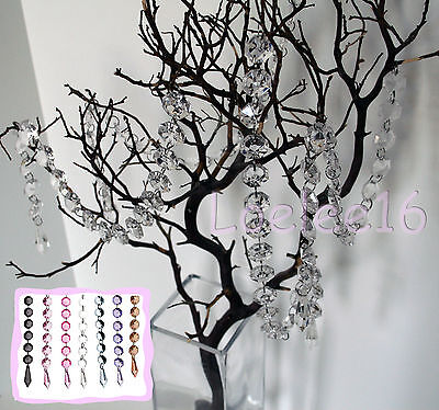 Acrylic Crystal Garland Diamond Hanging Bead Chains Wedding Decor 3 15 19 30 ft