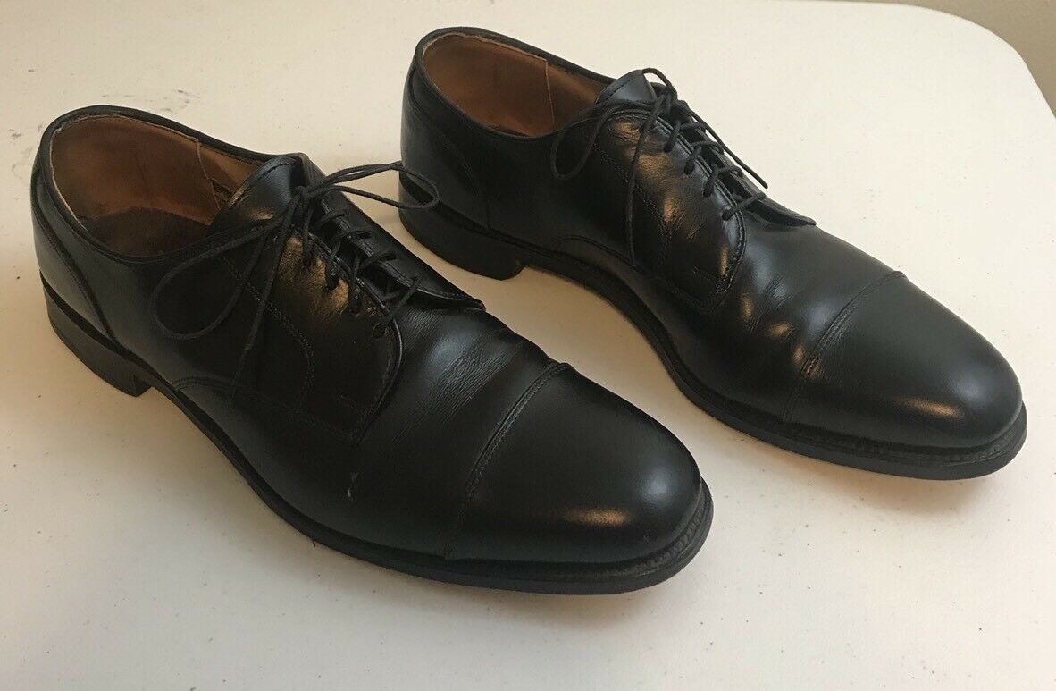 Allen Edmonds Cap Toe derbies chaussures  Cortland  en cuir noir 11 B
