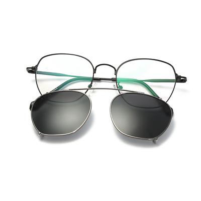 Uomo Polarizzata Occhiali Da Sole Clip-on Occhiali In Metallo Montatura Rx Moda