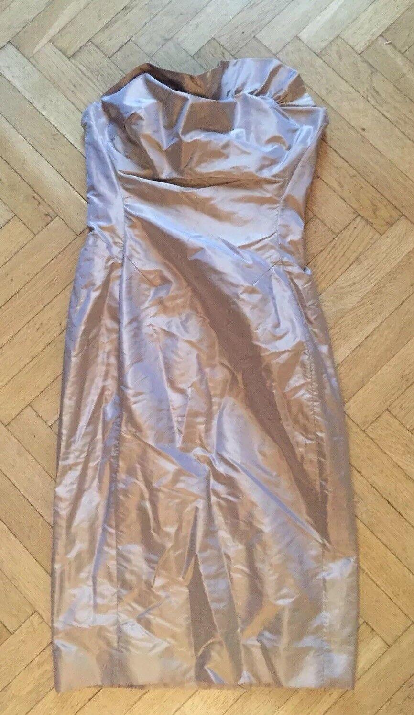 Vivienne Westwood  oro Tafetán Vestido 40eu  grandes ofertas