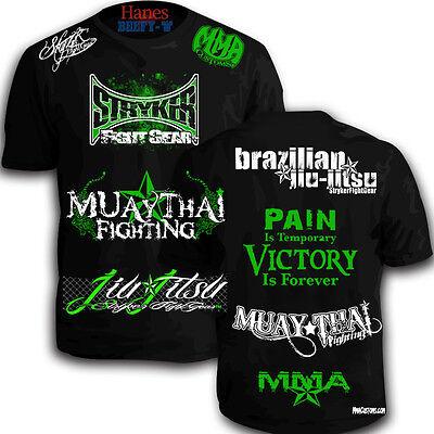 Brazilian Jiu Jitsu Shorts Sleeve Shirt MMA UFC WWE With W 1 FREE Tapout Sticker