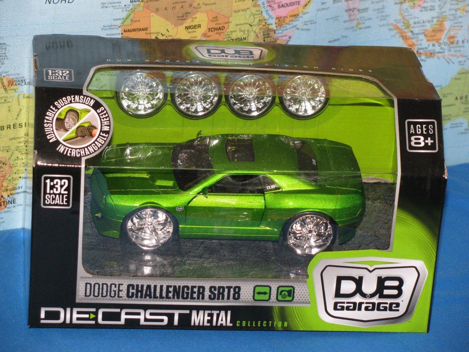 1  32 DUB GARAGE DODGE CHOLENGER SRT8 TULLRIDES WIDE BORD DIESCANT BRAND NY