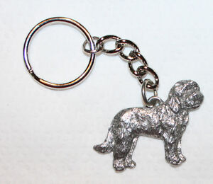 Puggle Pewter Silver Keychain Key Chain Ring