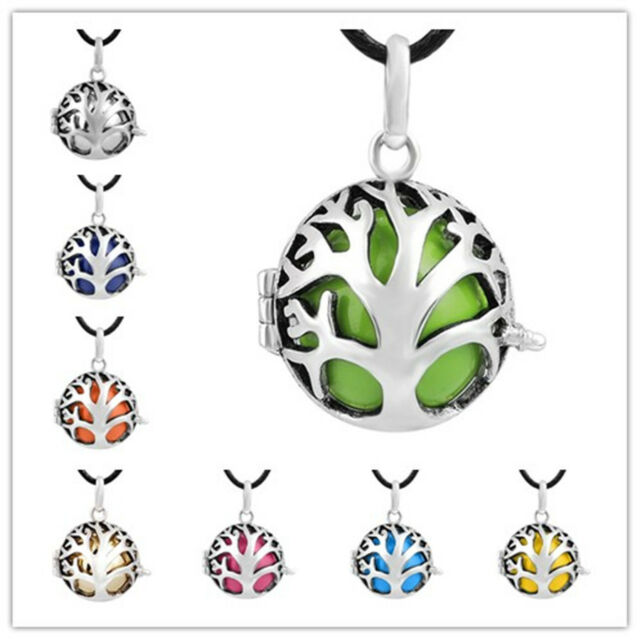 Mexican bola angel caller silver family tree cage pendant necklace harmony ball