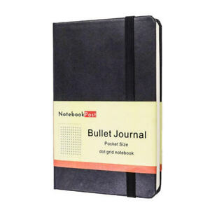 Wool Journal Notebook Black Portable Ruled A6 Size inches Hardcover Bound Journal Dotted Grid Paper Notepad for Sketchbook Composition Notebook