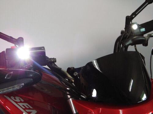 Daytime Running//Fog Lights fits Honda XL700V Transalp CREE LED Mirror Mount
