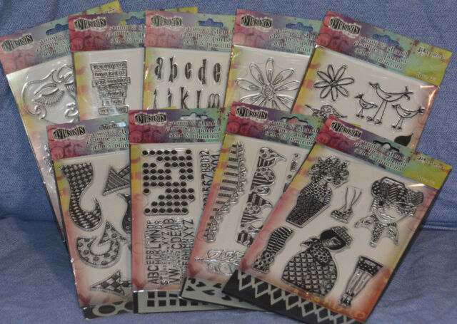Ranger Dylusions Clear Stamp & Stencil: many choices-you pick-combined shipping