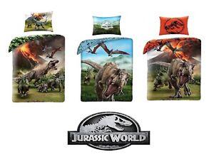 2 Tlg Jugend Bettwäsche T Rex Jurassic World Park 135 X 200 Cm Dinos