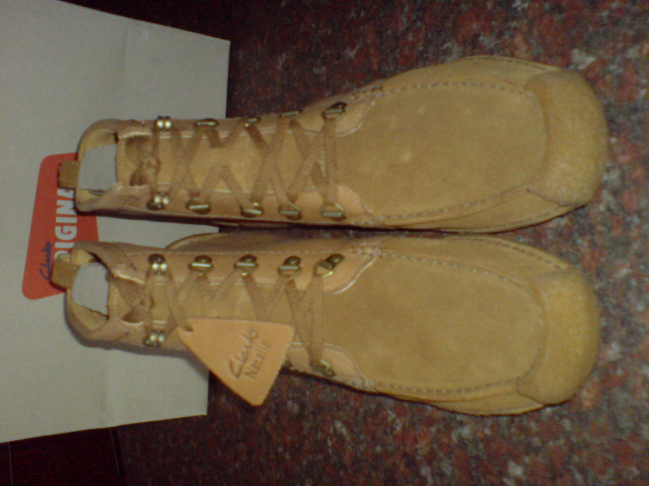 Clarks Originals BOOTS Mens ** WALLABEES NATALIE ** COMBI SAND BOOTS Originals ** UK 8,10,11 b7f241