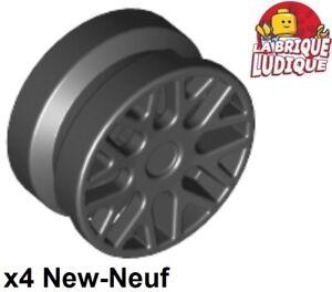 4x roue jante wheel Skateboard Trolley roulette noir//black 2496 NEUF Lego