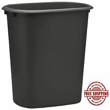 Plastic Garbage Can Waste Basket Bathroom Recycling Bin Kitchen Trash Container