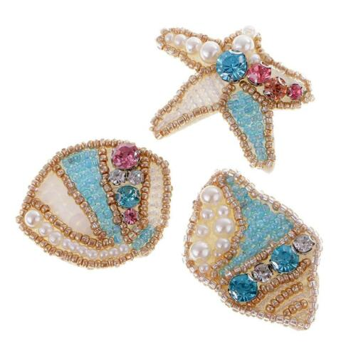 Iron on Bead Pearl Patch Sewing Rhinestone Applique Decor Patches DIY Crafts