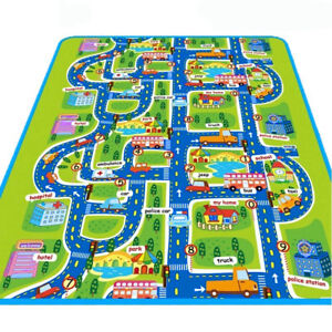 Ep Fh Giant Kids City Playmat Fun Town Cars Play Road Carpet Rug