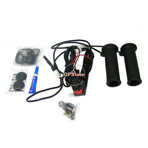 HEAVY-DUTY-HEATED-HANDLE-BAR-GRIPS-ATV-QUAD-THUMB-HEATER-CONTROL-SWITCH