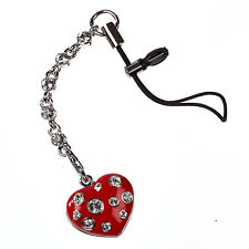 SECRET WISH SWAROVSKI CRYSTAL Iphone MOBILE RED HEART CHARM / DUST PLUG