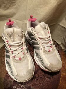 5c2ef1e684 Details about REEBOK RB 510 Women US 7 White Grey Pink Running Athletic  Shoes Lace Up