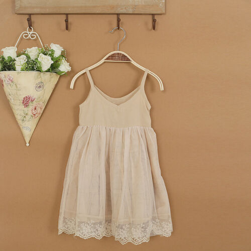 Kid Girl High Quality Summer Dress Simply Style Lace Dress 3-6T