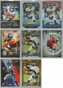 Emmanuel-Sanders-Denver-Broncos-8-card-2015-insert-lot-all-different