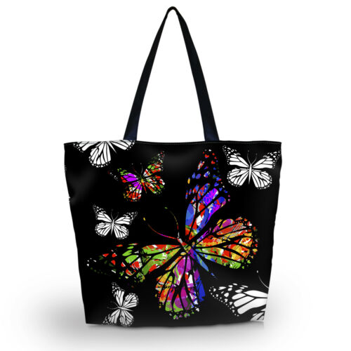 Ladies Womens Large Foldable Washable Shoulder Shopping School Travel Bag Tote