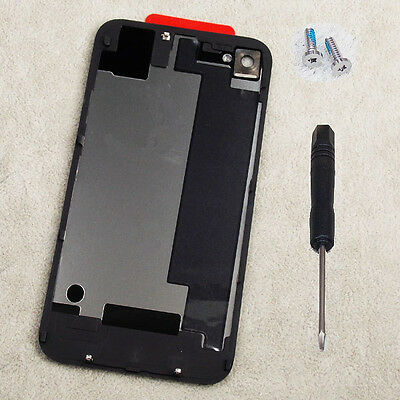 Battery Back Cover Case Door Rear Glass Replacement For iPhone 4S Black + Tools