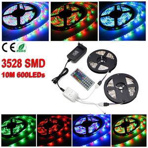 5M-10M-Lumiere-de-bande-Flexible-Ruban-3528-SMD-300-600-LED-RGB-amp-Telecommande