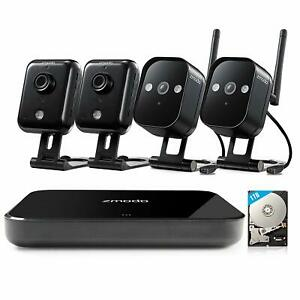 Zmodo Replay 4CH NVR 4 Outdoor Audio Indoor WiFi Camera Home Security System 1TB