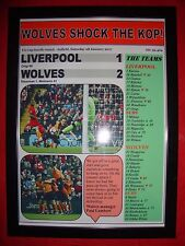 Liverpool 1 Wolves 2 - 2017 FA Cup - framed print