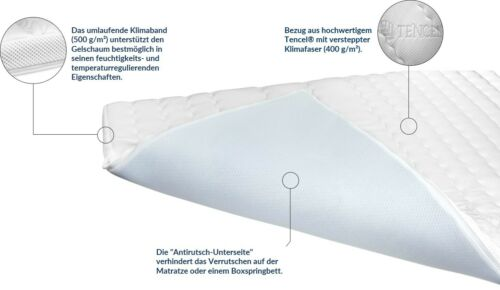 Premium Plus Gel Topper Matratzenauflage Gelschaum Topper 100x200 cm 8 cm