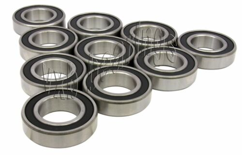 Wholesale Lot 6000-2RS Ball Bearing Dual Sided Rubber Sealed Deep Groove 10PCS