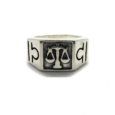 Genuine sterling silver men ring hallmarked solid 925 St George