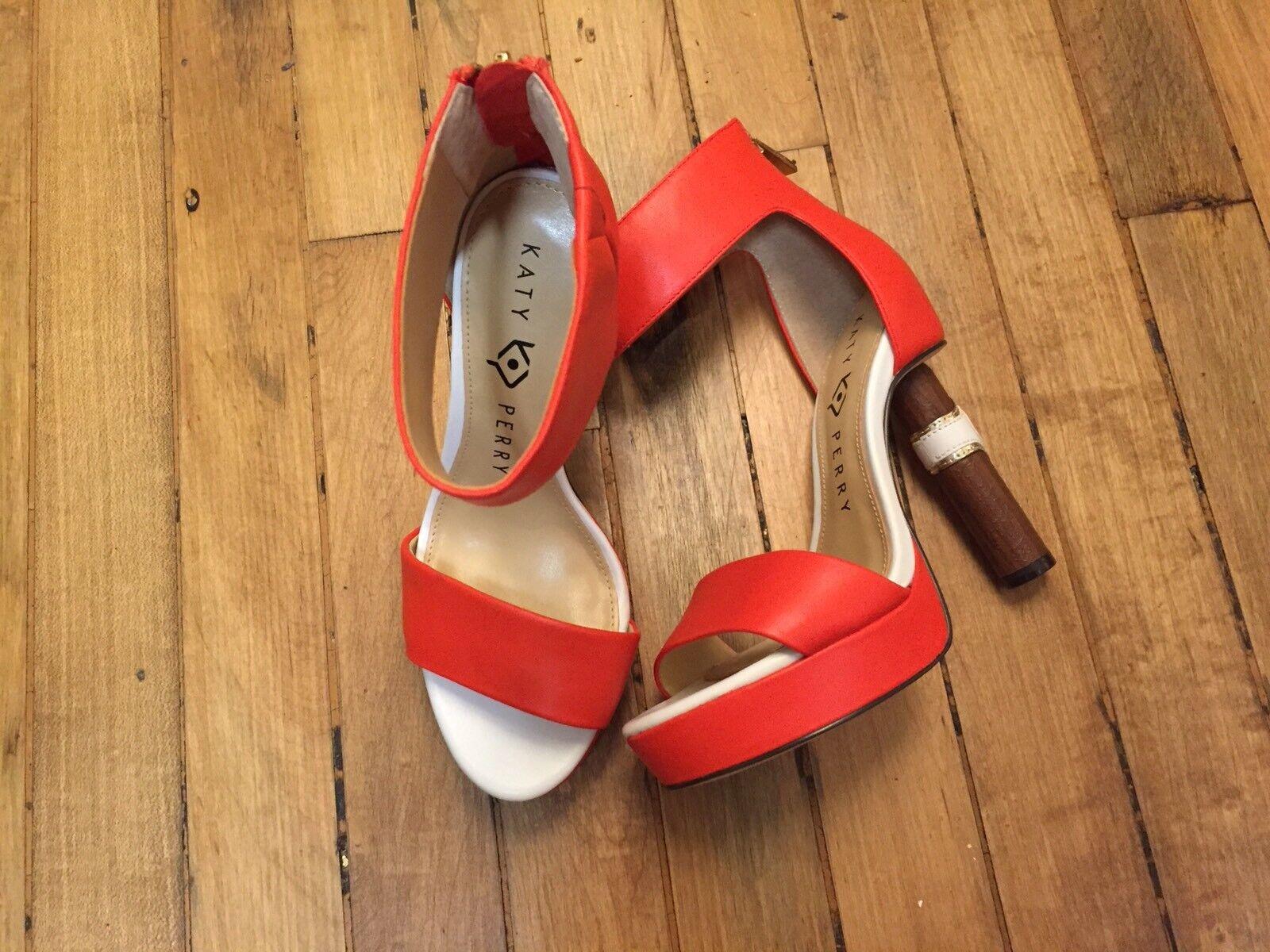 Katy Perry Tacón el Jackie Nuevos Zapatos De Tacón Perry Puntera Abierta cigarro Talla 5.5 90af06
