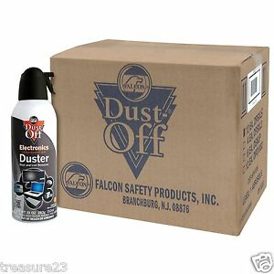 12 pk compressed air computer duster 10 oz dust off new ebay. Black Bedroom Furniture Sets. Home Design Ideas