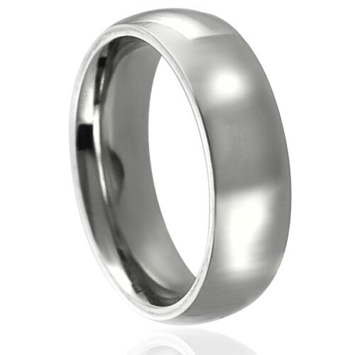 Stainless Steel Comfort Fit Wedding Ring