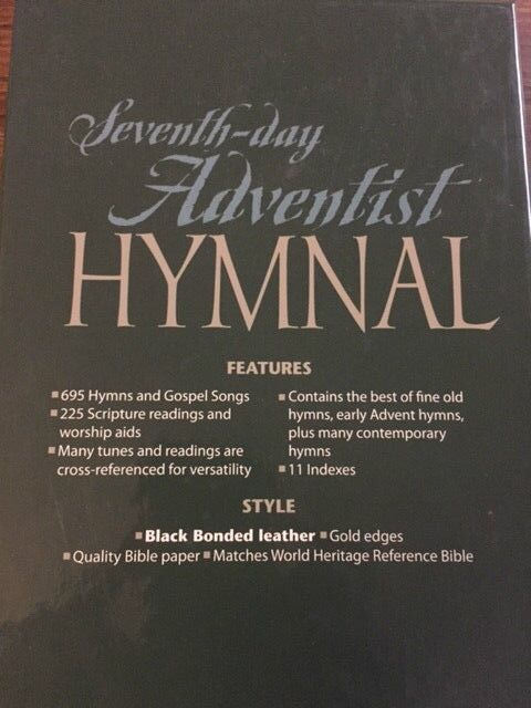 Seventh-day Adventist Hymnal Book Pocket Size Genuine Bonded Leather 1985