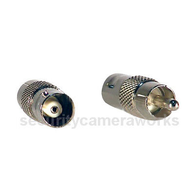 20pcs BNC Female to RCA Phone Male Connector Adapter for Security Camera System