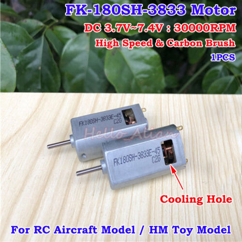 FK-180SH-3833 DC3.7V 4.2V 6V 7.4V 30000RPM High Speed Mini Carbon Brush HM Motor