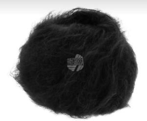 27,80 €//100g brigitte nº 3 lana Grossa mohair lana virgen 25 g FB 10 negro