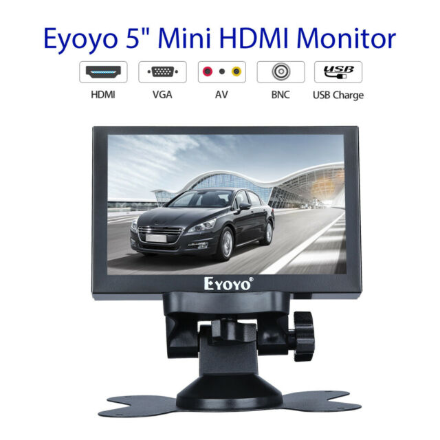 5 Inch Car RearView Monitor 800 * 480 support AV BNC VGA Ypbpr for Education and
