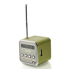 Black Green TD-V26 Portable Mini Digital Speaker Micro SD TF USB FM MP3