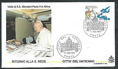1993 Vaticano Viaggi Del Papa Ritorno A Roma Dall'africa - Sv7 Prijs Blijft Stabiel