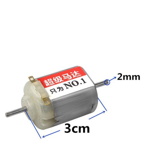 DC3V 27000RPM F130 Motor Eje Doble magnético de alta velocidad para armar uno mismo de Juguete Coche de Carreras
