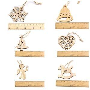 Creative Christmas Wooden Pendants Ornaments Diy Wood Crafts Xmas