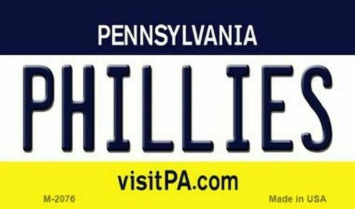 Phillies Pennsylvania State Background Metal Magnet