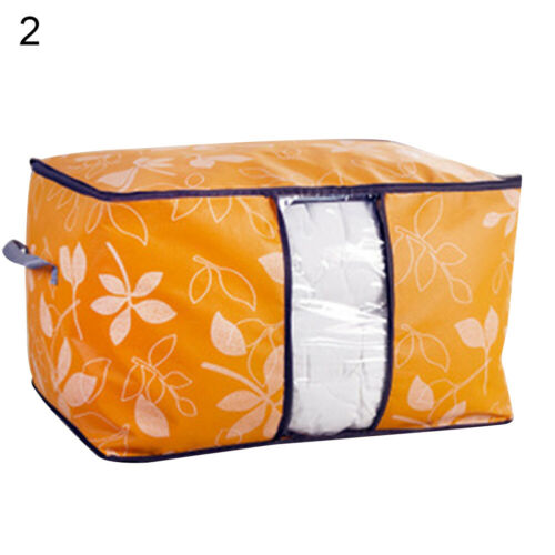 Foldable Quilt Blanket Clothes Storage Bag Non-Woven Pouch Organizer Useful