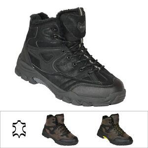 sale retailer 242fe 6c4a2 Details zu Leder Winterschuhe Herren Stiefel Winterstiefel Outdoor Boots  Damen Stiefel 351