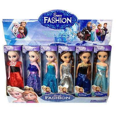 Cute 2pcs Movie Frozen Princess Figures Kids Children Baby Girl Playset Doll Toy
