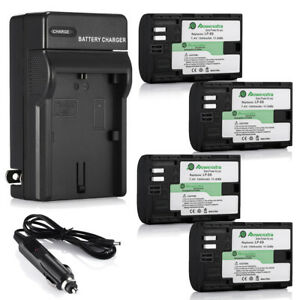 LP-E6-Battery-amp-Charger-for-Canon-EOS-5D-Mark-II-III-IV-6D-7D-60D-70D-80D-Camera