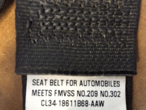 2009-2014 FORD F150 REAR OUTER SEAT BELT ASSEMBLY CREW CAB OR SUPER CAB BLACK