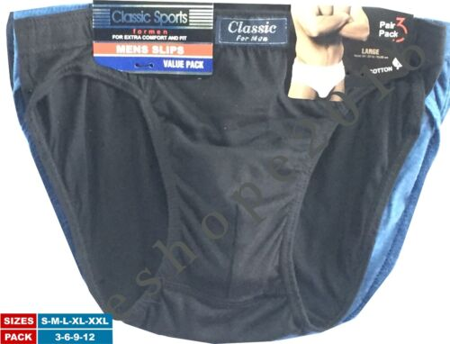 GENUINE CLASSIC MENS BRIEFS SLIPS UNDERWEAR PANTS HIPSTER COMFY COTTON SIZE S-XL