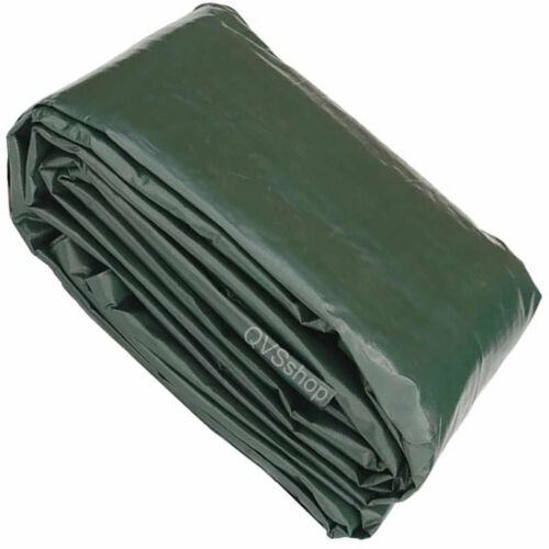 10M x 11M NEW GREEN BROWN WATERPROOF TARPAULIN SHEET Heavy Duty Tarp Cover Sheet